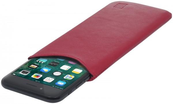 e508acde61 Pochette téléphone en cuir nappa doux en taille m | StilGut