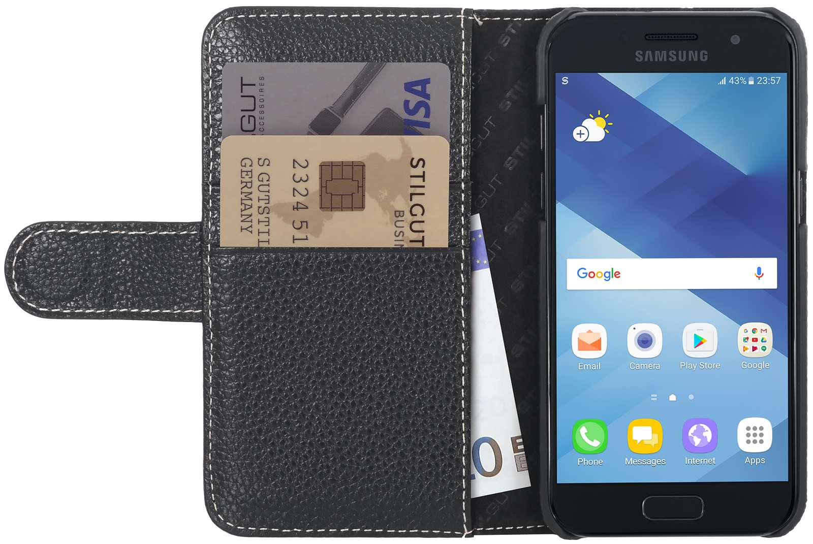 Housse Samsung Galaxy A3 (2017) Talis porte-cartes I StilGut 4ba0115afb76