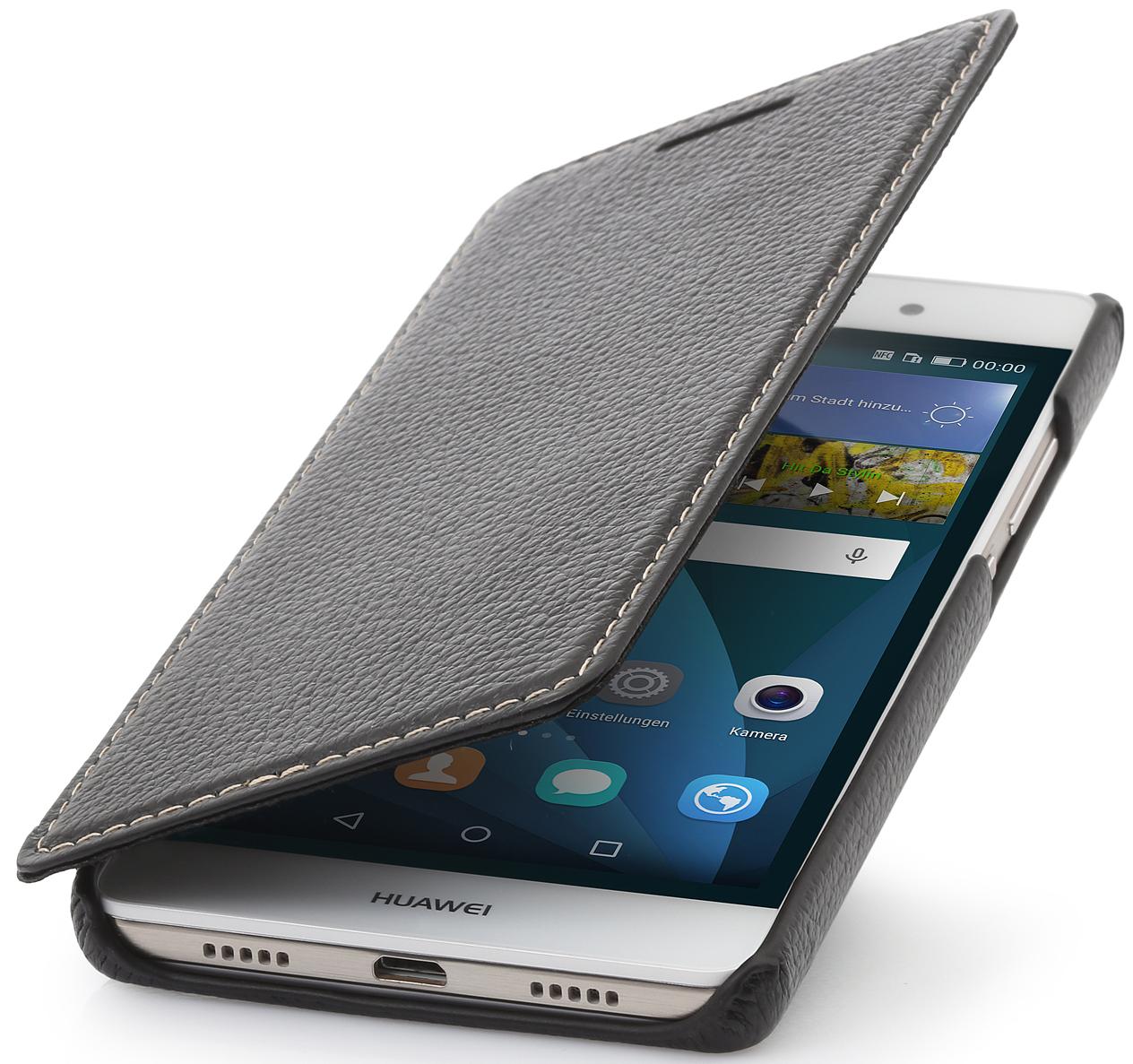 Housse Huawei P8 Lite Book Type En Cuir Sans Clip