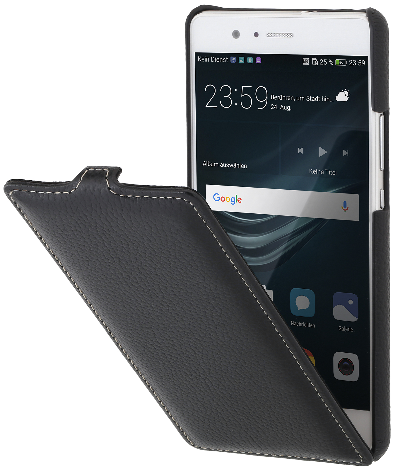 Housse huawei p9 lite ultraslim en cuir de stilgut for Housse huawei p9 lite